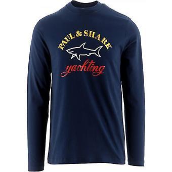 Paul och Shark Navy Chest Logo T-Shirt