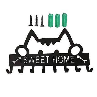 מחזיק מפתח להרכבה על הקיר דקורטיבי וו מתלה מתכת קולב דלת הכניסה חדר אמבטיה במטבח