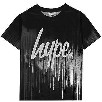 Hype Kids Mono T-Shirt Ribbed Crew Neck Short Sleeve T Shirt Tee Top