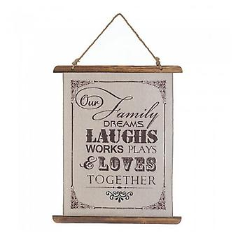 Accent Plus Linen Wall Art - Our Family, Pack of 1
