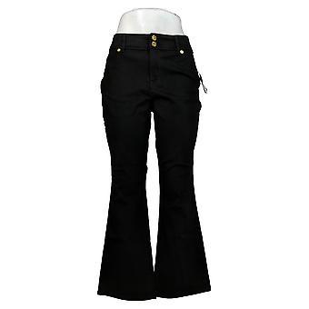 IMAN Global Chic Women's Petite Jeans 360 Slim Boot-Cut Jean Black 703305