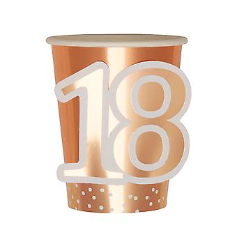 Rose Gold Birthday - Cup - Age 18