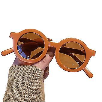 Gafas de sol de color sólido de estilo retro para niños (Rust)