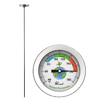 Kompost jordtermometer rostfritt stål sond typ gödselvattentermometer
