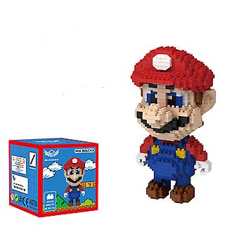 Red Mario Concrete Block  For Creative Play Building Block Sets