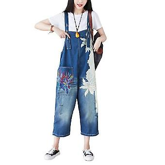 Woman Stitching Jeans Plus Size Overalls