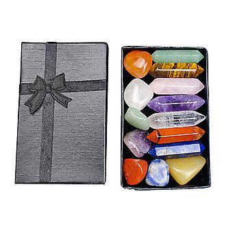 7 Chakra Stone Set Mother's Day Gift Meditation Stone Yoga Amulet With Gift Box