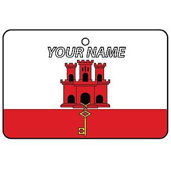 Bevanda rinfrescante di aria di Gibilterra bandiera auto personalizzato