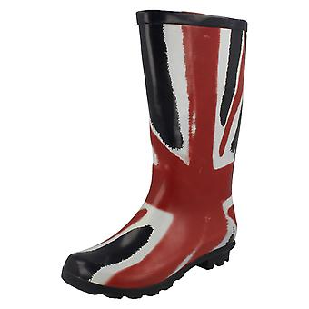 Childrens Spot On Union Flag Design Boots