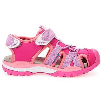 Geox meisjes Borealis Water vriendelijke sandalen lila roze
