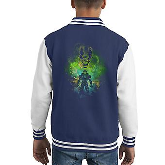 Spartan Kunst United Nations Space Command Halo Kid Varsity Jacket