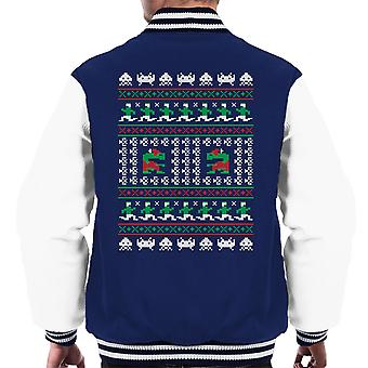 Games Of Christmas Past Et Knit Pattern Men's Varsity Jacket