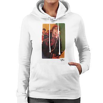 Oasis Liam Gallagher Performing Women's Hooded Sweatshirt
