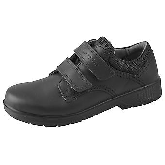 Ricosta ragazzi William scuola scarpe nere in pelle calzata larga
