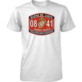 US Marine Corps 08 41 - Semper Fidelis - Feld-Artillerie - T-Shirt für Herren