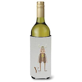 Alfabeto Y per Yak bottiglia di vino Beverge isolante Hugger