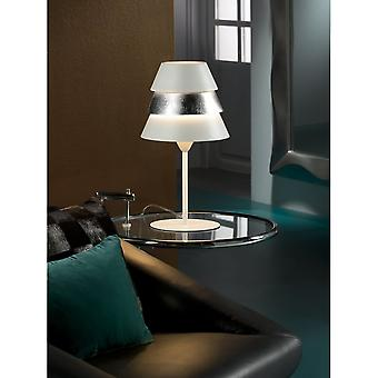 Schuller Isistable Lamp 1L.Wht/Silver