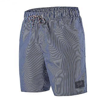 "Speedo stripete solen 16"" badebukse, Navy/hvit"