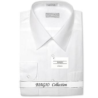 Manchettes de 100 % Biagio masculine coton Chemise solide w / Convertible
