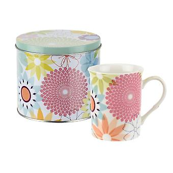 Portmeirion Crazy Daisy Mug & Tin Set