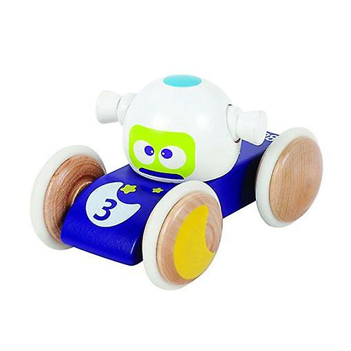 BOIKIDO Luna Vehicle Wooden Push Along Space Toy for 18m+