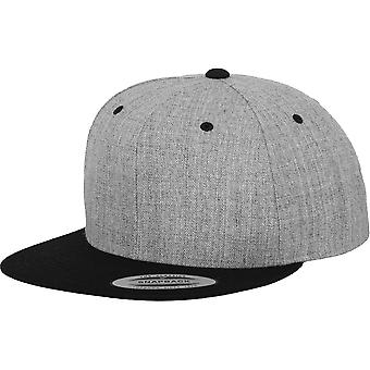 Flexfit door Yupoong Mens Classic 2-Tone Premium wol Snapback Cap