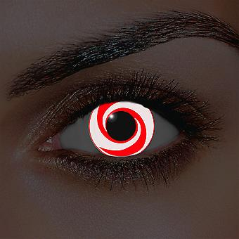 Jag-Glow röd virvel kontaktlinser (par)