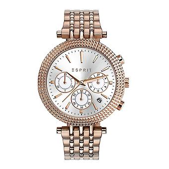 Esprit Damen Uhr Armbanduhr Edelstahl Rosé ES108742002