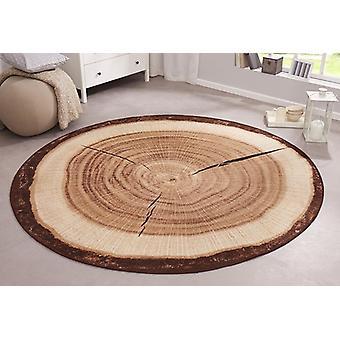 Tronco de árbol de diseño terciopelo Alfombra redonda 101175