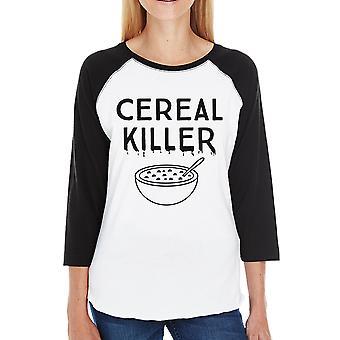 Cereali Halloween Killer Baseball camicia per Womens carino Graphic Tee