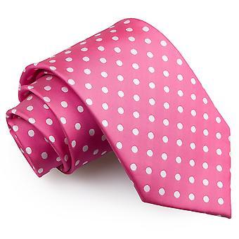 Hot Pink Polka Dot klassische Krawatte