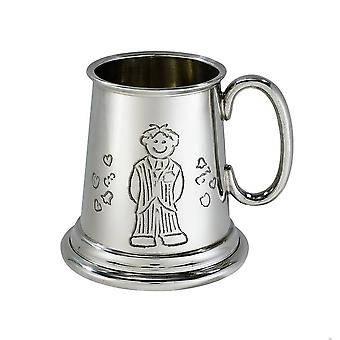 Page Boy Quarter Pint Pewter Baby Mug