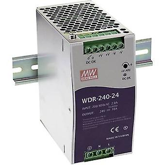 Mean Well WDR-240-24 Rail mounted PSU (DIN) 24 V DC 10 A 240 W 1 x