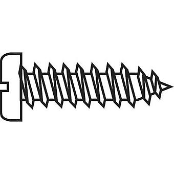 TOOLCRAFT 228745 Countersunk screws 6.5 mm Slot DIN 7971-C ISO 1481 Steel zinc plated 20 pc(s)