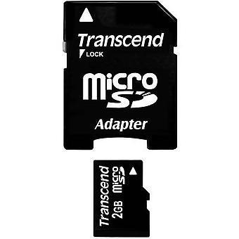 Overskride TS2GUSD microSD-kortet 2 GB klasse 2 inkl SD kortet