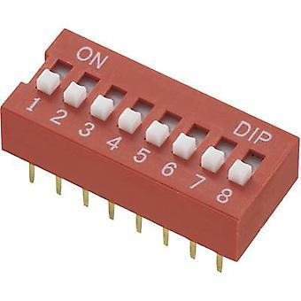 TRU COMPONENTS DS-08 Switch DIP Numero di pin 8 Standard 1 pc(s)