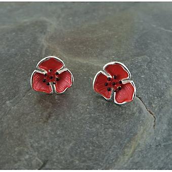 Union Jack Wear Poppy Stud Earings