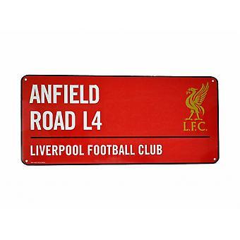 Liverpool FC Football officiel couleur métal rue signe