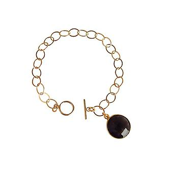 Smoky quartz bracelet gem smoky quartz bracelet gold plated