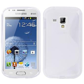 Mobiele case TPU case voor Samsung Galaxy Galaxy trend duos S7562 S7580 S7582 transparant