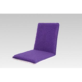 Double Chair cushions seat cushion with backrest purple 80 x 37 cm wool
