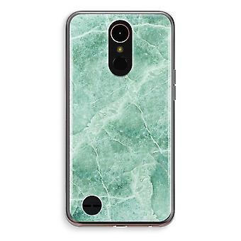 LG K10 (2018) Transparent fodral (Soft) - grön marmor