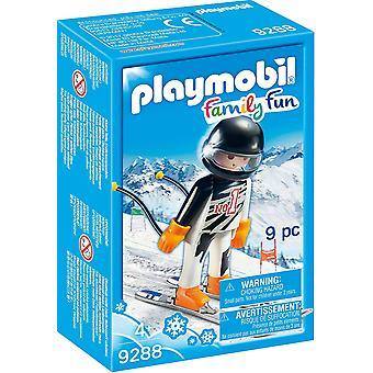 Playmobil 9288 famiglia divertente azione sciatore figura