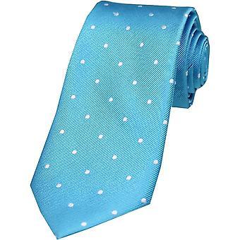 David Van Hagen Polka Dot zijde stropdas - Turquoise