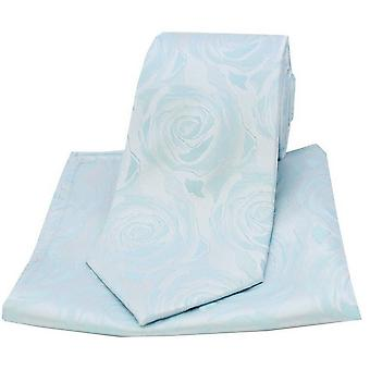 David Van Hagen Rose Bryllup matchende slips og lomme kvadrat Set - himmelblå