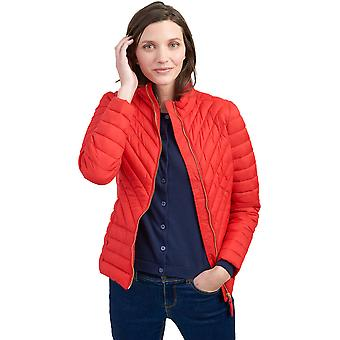 Joules Womens Elodiepnt Chevron Quilted Padded Fitted Coat