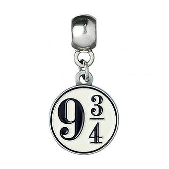 Harry Potter Silver Plated Charm 9 & 3 kwartalen