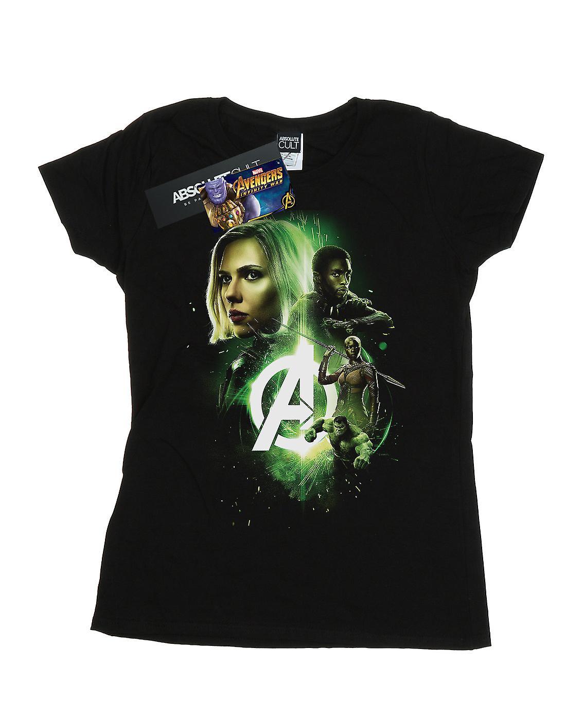 Marvel Women's Avengers Infinity War Widow Panther Team Up T-Shirt