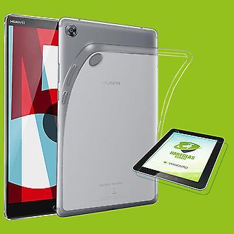 Für Huawei MediaPad T5 10.1 Zoll Transparent Hülle Tasche Cover Schutz + H9 Hart Glas