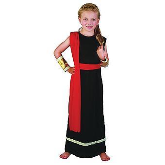 Roman Girl. Black (Medium Age 6-8)